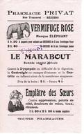 Buvard PHARMACIE PRIVAT - Rue Trencavel BEZIERS - Vermifuge Rose , Le Marabout , Emplâtre Des Soeurs - Lebensmittel