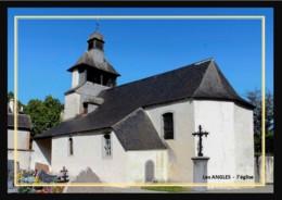 66  Les  ANGLES ... L'église - France