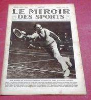 Miroir Des Sports N°299 Février 1926 Jean Borotra  Lacoste Suzanne Lenglen Helen Wils,semaine Du Ski à Pontarlier - Sport