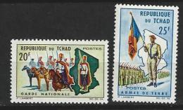 "Tchad YT 102 & 103 "" Armée Nationale "" 1964 Neuf** - Tchad (1960-...)"