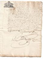 """Généralité De Moulins  1690  """"huit Deniers""""  Situé Au Bourg De Pardoux - Cachets Généralité"""