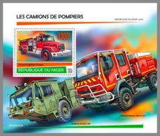 NIGER 2020 MNH Fire Engines Feuerwehr Fahrzeuge Camions De Pompiers S/S - IMPERFORATED - DHQ2026 - Firemen