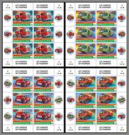NIGER 2020 MNH Fire Engines Feuerwehr Fahrzeuge Camions De Pompiers M/S - IMPERFORATED - DHQ2026 - Firemen