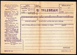 POLAND TELEGRAM BLANK FORM FOR COMPLETION LODZ 7 DISTRICT MINT UNUSED TÉLÉGRAMME TELEGRAMM TELEGRAMA TELEGRAMMA - 1944-.... Republic