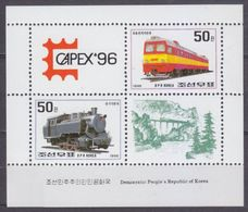 1996Korea North3838-3839KLLocomotives - Trains