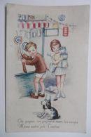 """Enfants Avec Petit Chien à La Fête Foraine Au Stand De Tir """"Pin-Pan"""" - Humorous Cards"""