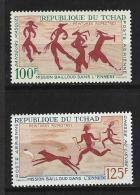 "Tchad Aerien YT 42 & 43 (PA) "" Peintures Rupestres "" 1967 Neuf** - Tchad (1960-...)"