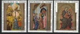 "Tchad Aerien YT 75 à 77 (PA) "" Noël "" 1970 Neuf** - Tchad (1960-...)"
