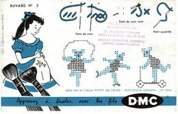 Buvard N° 3 DMC Avec Tampon AU GLAN D'OR Le Havre - Vestiario & Tessile