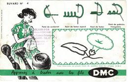 Buvard N° 4 DMC Avec Tampon AU GLAN D'OR Le Havre - Vestiario & Tessile
