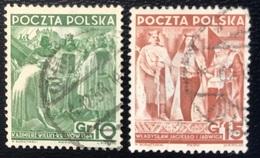 Polska - Poland - Polen - P1/5 - (°)used - 1938 - 20 Jaar Republiek - Michel Nr. 332#333 - 1919-1939 Republic