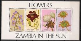 Zambia - 1983 - Bloc Feuillet BF N°Yv. 12 - Flore / Fleurs - Neuf Luxe ** / MNH / Postfrisch - Zambia (1965-...)