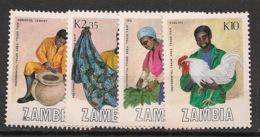 Zambia - 1988 - N°Yv. 441 à 444 - Produits Locaux - Neuf Luxe ** / MNH / Postfrisch - Zambia (1965-...)