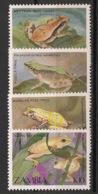 Zambia - 1989 - N°Yv. 457 à 460 - Faune / Grenouilles /Frogs - Neuf Luxe ** / MNH / Postfrisch - Zambia (1965-...)