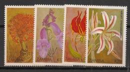 Zambia - 1989 - N°Yv. 477 à 480 - Noel / Fleurs - Neuf Luxe ** / MNH / Postfrisch - Zambia (1965-...)