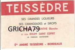 BUVARD - LIQUEURS ORANGEADES ET SIROPS TEISSEDRE - ETS ANDRE TEISSEDRE BORDEAUX - Liqueur & Bière