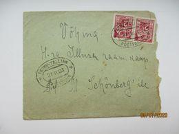 ESTONIA 1923 TPO PÄRNU TALLINN TO VÕHMA  , COVER , O - Estland