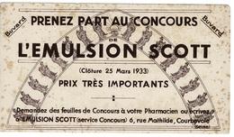 Buvard L'EMULSION SCOTT (cloture 25 Mars 1933) Courbevoie. - Drogisterij En Apotheek