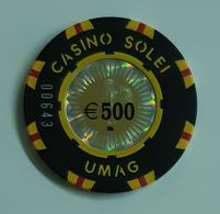 TOKEN JETON CROATIA CASINO SOLEI UMAG 500 EUR - Casino