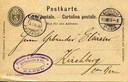 Entier Postal De 1892 Sur CP Oblitéré 11 VIII 1893 - Interi Postali