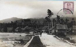OLD REAL PHOTO POSTCARD - MALESIA - VILLAGE OF MALAY - PENANG - P1 - Malaysia