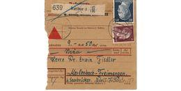 Colis Postal  / De Ratibor / 2-9-43 - Briefe U. Dokumente