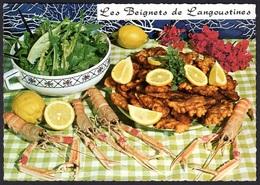 RECETTE DE CUISINE BEIGNETS LANGOUSTINES EMILIE BERNARD, CARTE VIERGE - Ricette Di Cucina