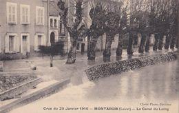 Montargis : Crue Du 20 Janvier 1910 - Le Canal Du Loing - Montargis