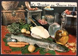 RECETTE DE CUISINE LE BROCHET BEURRE BLANC EMILIE BERNARD, CARTE VIERGE - Ricette Di Cucina