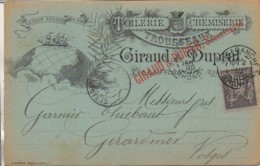 69  VILLEFRANCHE Carte Publicitaire De 1895 - Villefranche-sur-Saone