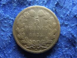 FRANCE 5 FRANCS 1832W, KM749.13 - France