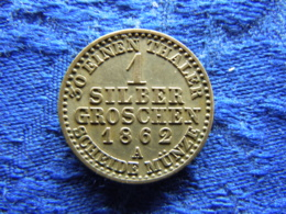 GERMANY  PREUSSEN 1 GROSCHEN 1862A XF, KM485 - Small Coins & Other Subdivisions