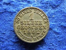 GERMANY  PREUSSEN 1 GROSCHEN 1862A XF, KM485 - [ 1] …-1871 : Etats Allemands