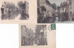 3 CP Montargis : 1) La Venise Du Gâtinais - 2) Vieille Rue Sur L'eau - 3) Une Rue Sur L'eau (La ^Pêcherie) - Montargis