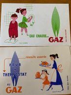 2 BUVARDS GAZ - Electricité & Gaz