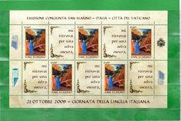 (Ni) San. MARINO **- 2009 - GIORNATA Della LINGUA ITALIANA - .MNH. - Blocs-feuillets
