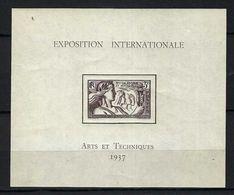 FRANCE COLONIES NOUVELLE-CALEDONIE Blocs & Feuillets: Exposition Internationale ''Arts Et Techniques 1937'' Neuf** TTB - 1937 Exposition Internationale De Paris