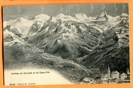 LOL279, Vallée De Zermatt Et De Saas-Fee, 6512,  Circulée 1912 - VS Valais