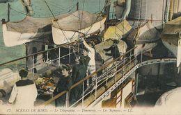 Marine Telegraphe Timonerie Les Signaux  Canots De Sauvetage - Guerre