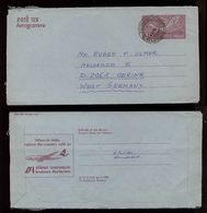 India Indien 1985 Postal Stationery AIR INDIA Aircraft To Germany - Briefe