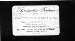 CG - Beniamino Fontana - Como - Polveri Da Caccia E Mina - Speciallità Fuochi Artificiali - Italy