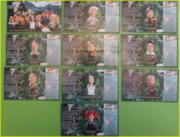 SERIE  KINDER BPZ COMPLETE 7 ZWERGE LES 7 NAINS ALLEMAGNE 2006 - Notices