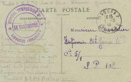 Libourne Cachet Hopital Temporaire  No 1 Guerre 1914 - Libourne