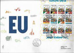 Fdc Venetia: EUROPA UNITA (1993) Viaggiata - 6. 1946-.. Repubblica