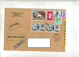Lettre Recommandée Tavel Sur Gendarmerie Brayer  Briat - Marcophilie (Lettres)