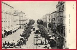 CPA Tunisie TUNIS - L'Avenue De France (Tramway, Calèche...) ° ND Phot - Tunesië