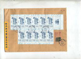Lettre  Recommandée Paris  Sur Journee Timbre Carnet - Marcophilie (Lettres)