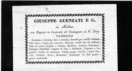 CG - Giuseppe Guenzati E C. - Milano - Merceria - Italy