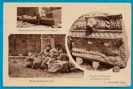 CPA Syrie Syria (ou Liban Lebanon) BAALBEK Multivues ... * Archéologie - Non Classés