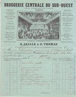 Lot Et Garonne, Agen, Droguerie Centrale Du Sud Ouest Jaille & Thomas 1887 - Chemist's (drugstore) & Perfumery